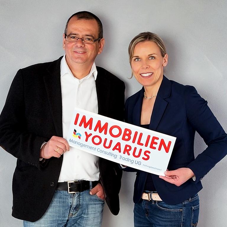 Daniela Beresjuk und Thomas Lafontaine von YOUARUS Immobilien